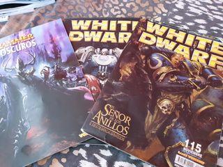 libro warhammer elfos oscuros, más 2 revisas
