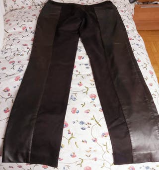 Pantalon de piel marrón talla 44