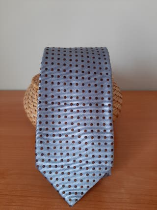 Corbata seda azul claro