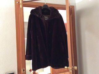 Abrigo chaquetón peletería mouton