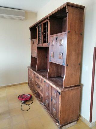 mueble madera grande