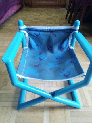 silla plegable con brazos niños