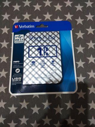 disco duro externo VERBATIM 1 TB nuevo