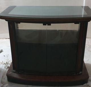 Mueble Television rotatorio Cristal y Madera