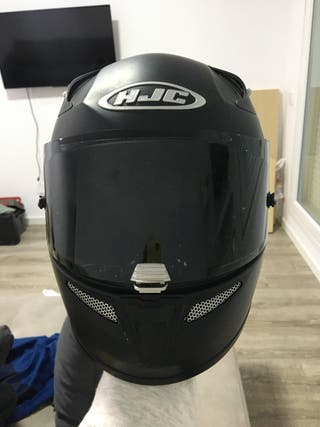 Casco/moto HJC 10 plus negro mate