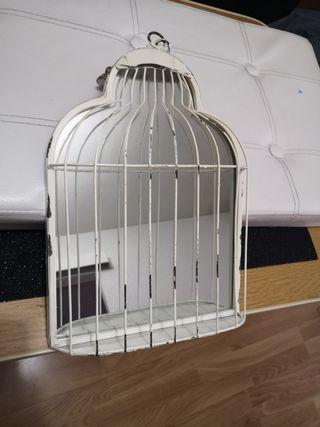 espejo jaula de pajaro decoración