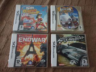 4 juegos Nintendo ds 3ds 2ds