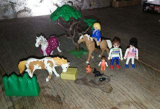 Playmobil caballos, accesorios