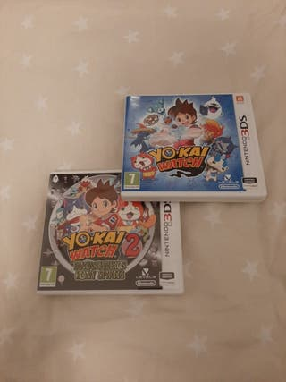 2 juegos Yo-kai Watch Nintendo 3ds xl