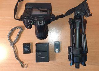 Camara Nikon D3300 con accesorios