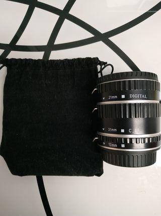Tubos extensión para fotografía macro