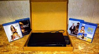 Reproductor Blu-ray y Pack películas (GANGA)