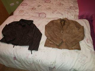 Chaquetas de cuero mujer, Zara, L y XL