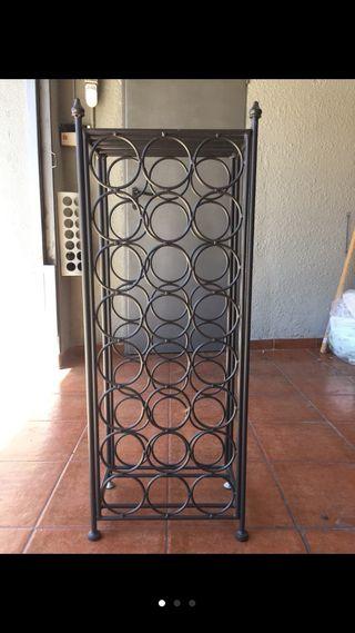 Botellero de diseño, metal negro