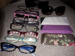 lote 9 gafas vista cansada+ 2 sol 20 euros