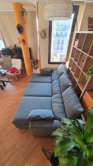 Sofá chaise long 3plazas Ikea
