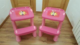 Mesas con banco para niñas