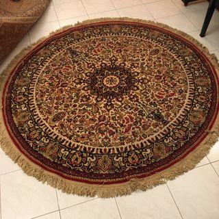 Algombra de lana redonda