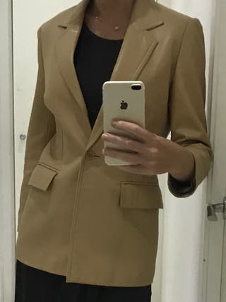 Escada sport lamb skin leather blazer