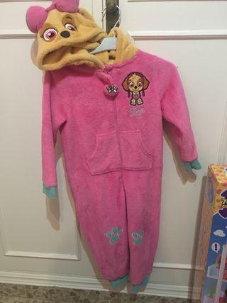 Disfraz pijama Sky patrulla canina 3-4 años