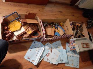 3 cajas de playmobil castillos fuertes figuras