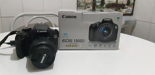 Kit cámara Canon 1300D junto con objetivo 18-55mm