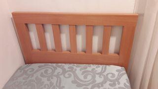 Cabezal de cama madera cerezo