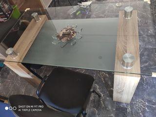 mesa comedor cristal 150×85