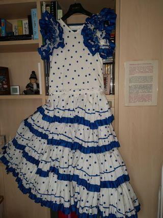 Vestido de faralaes (sevillana), talla 38 aprox.