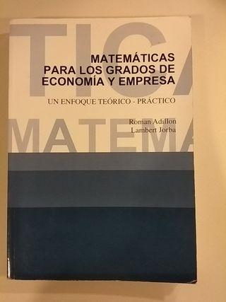 Matemáticas para los grados de Economía y Empresa