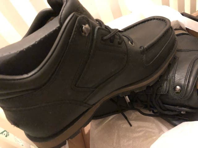 Men's Black Leather boots NEW