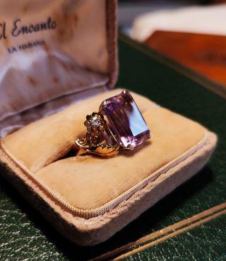 2 Anillos (Zafiro, Amatista, Diamantes)