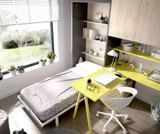Habitación con cama abatible vertical rmb