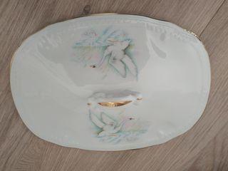 Limoges porcelana cisnes