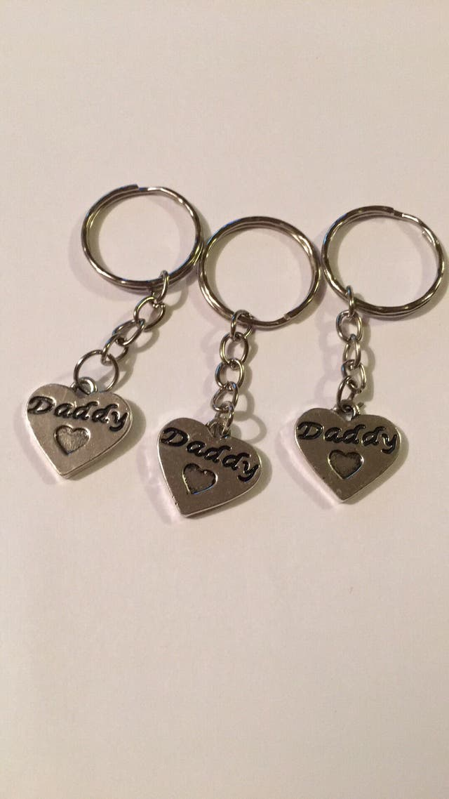 home made daddy keyring's