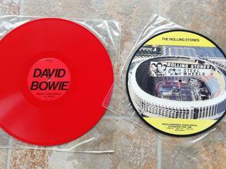 picture disc vinilos Rolling Stones y David Bowie