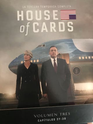 House of cards temporada 3 y 4 blue ray