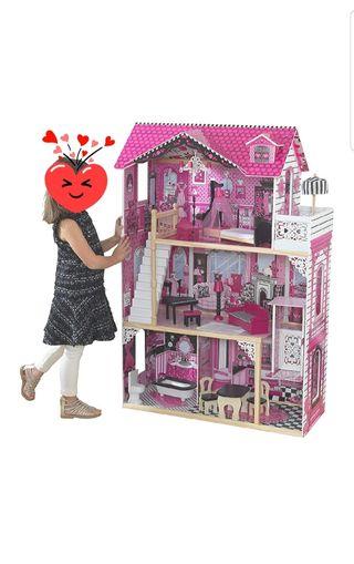Casa de muñecas marca KidKrafd de madera.