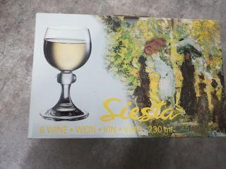copas vino cristal de bohemia