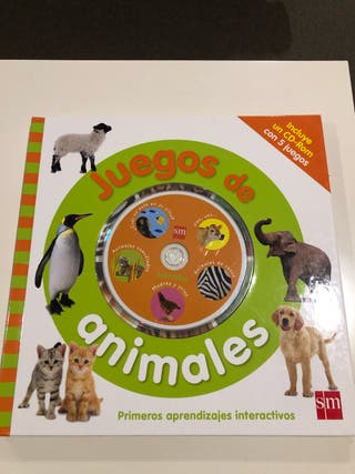 Libro de animales y CD editorial SM