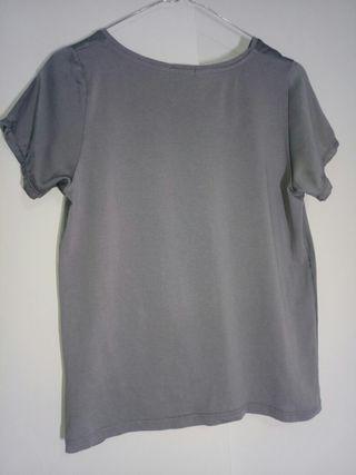 Camiseta gris S mujer