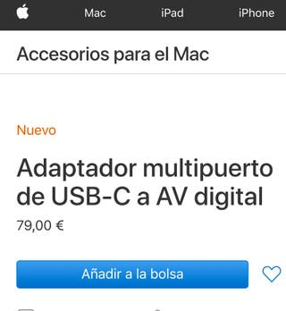 Adaptador Apple USB-C a HDMI Adaptador Apple USB-