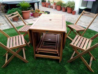 vendo 6 sillas y mesa de jardin