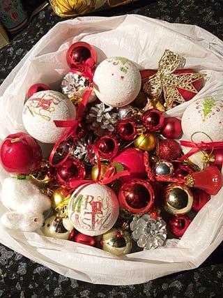 super lote 60 adornos navideños