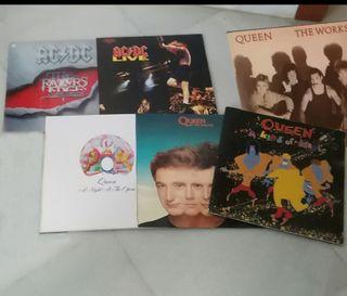 Pack 6 discos vinilo QUEEN y ACDC