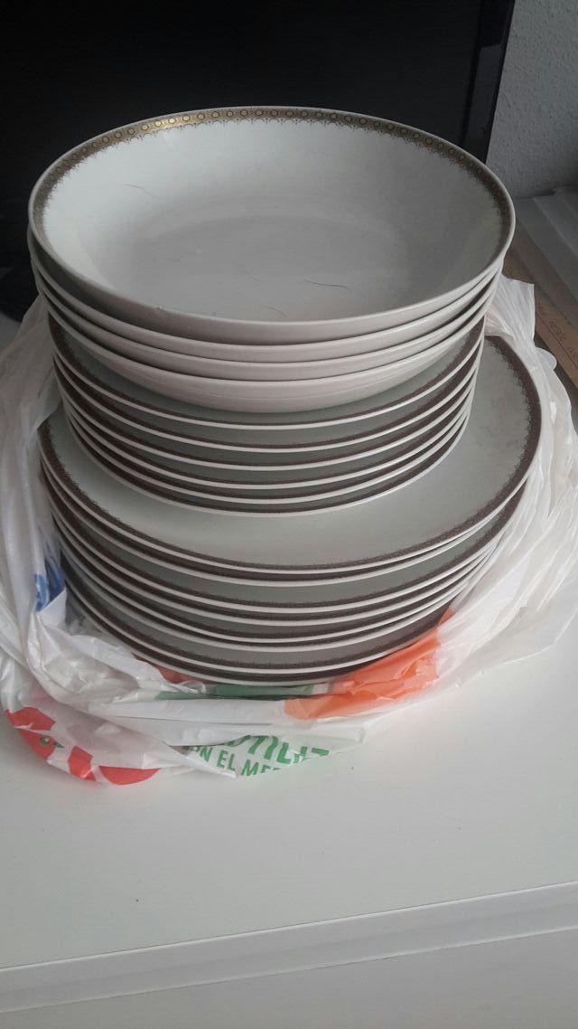 platos porcelana