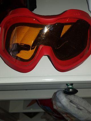 gafas esqui rojas adulto Decathlon