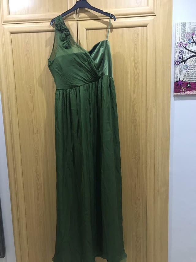 Vestido de seda para fiestas. Talla 46
