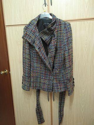 chaqueta zara basic mujer