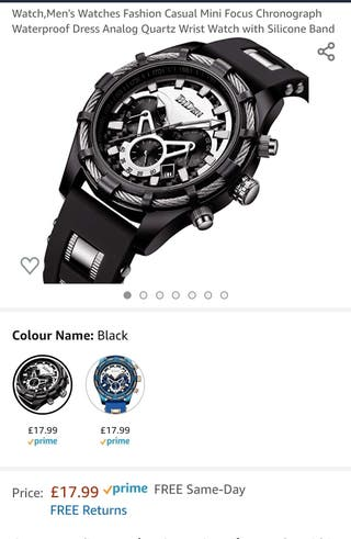Men's Watch Black